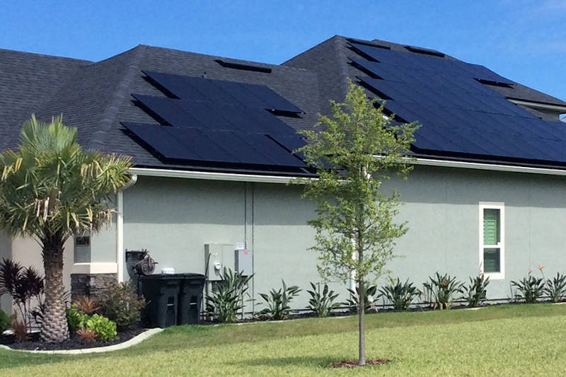 solar panels on tile roof